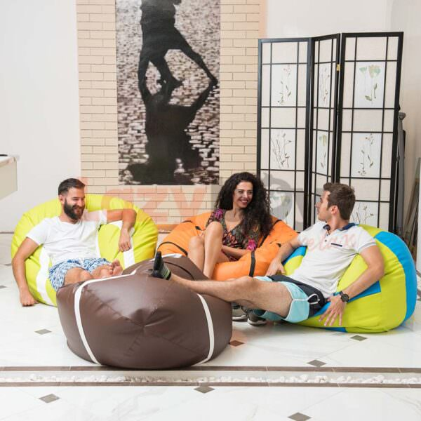 fotoliu puf beanbag minge lazyboy piele eco premium basket baschet 6
