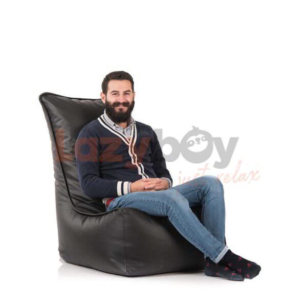 fotoliu puf lazyboy elegant black beanbag 1
