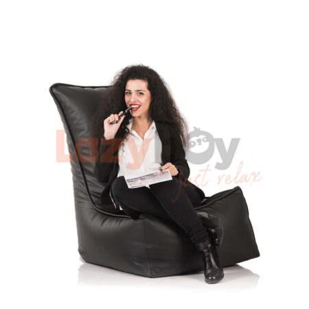 fotoliu puf lazyboy elegant black beanbag 2