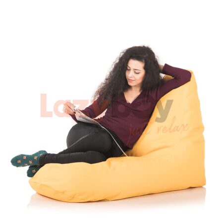 lazyboy fotolii puf premium beanbags banana gold2
