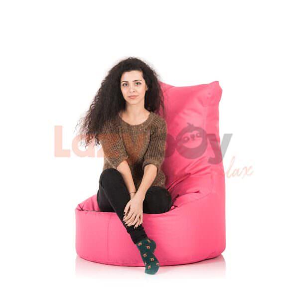 fotoliu puf beanbag lazyboy seat l pink