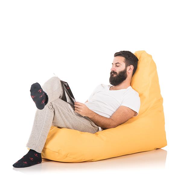 lazyboy fotolii puf premium beanbags banana gold1 2