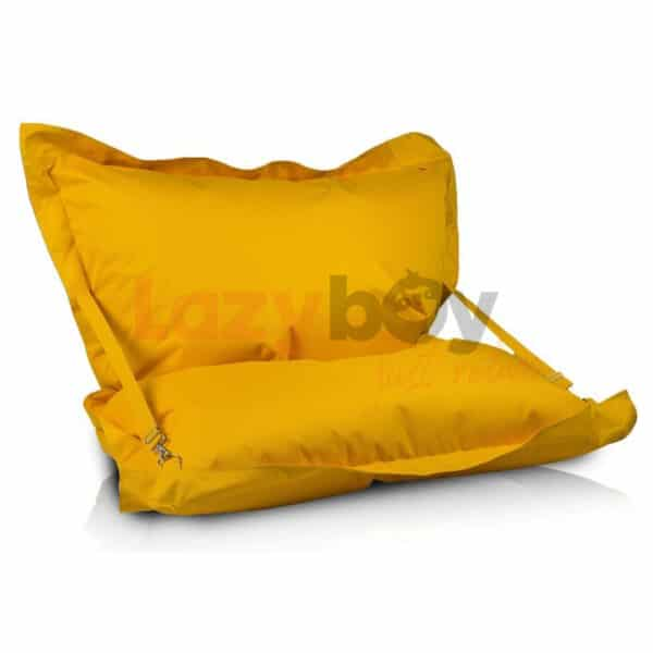 pillow bretele yellow