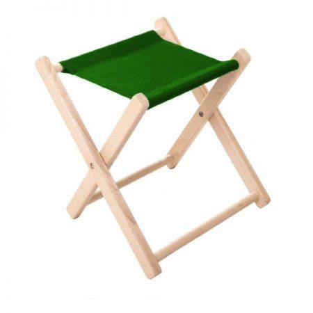 Taburet pliabil reclama textila verde inchis