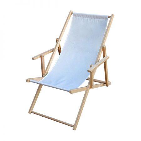 scaun de plaja cu manere pliabil din lemn de gradina lazyboy romania alb