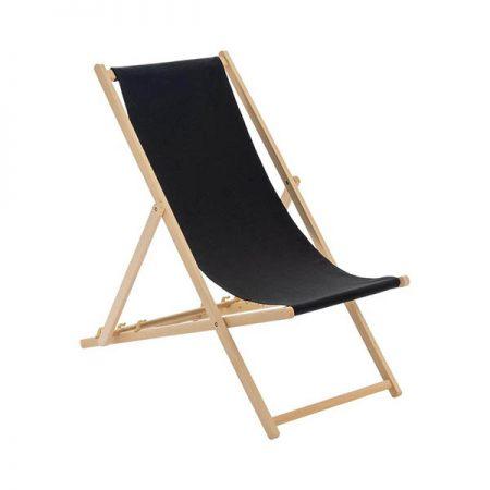 sezlong pliabil scaun plaja lemn lazyboy personalizat logo negru