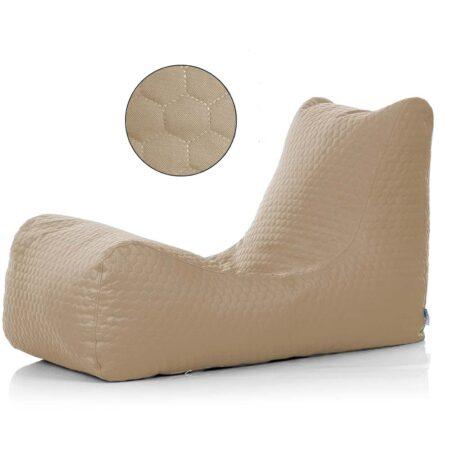 Lounger honeycomb beige